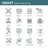 Moderní tenká linie ikony pro podnikání, infographic a různé projekty