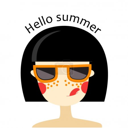 Girl with glasses - Hello summer