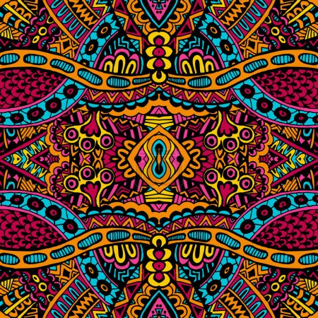Ornamental vintage ethnic seamless vector pattern