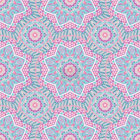 Seamless vector pattern tracery oriental design
