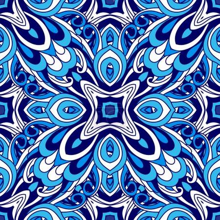 Abstract  vector seamless pattern. Flourish ornament design