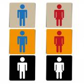 Vector toilet or restroom signs