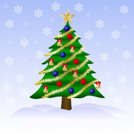 Christmas green tree.