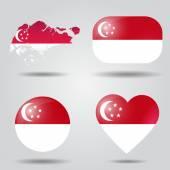 Singapore flag set