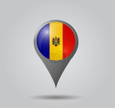 Flag pointer - Moldova