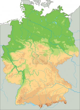 Germany physical map.