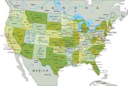 états-unis d'Amérique carte