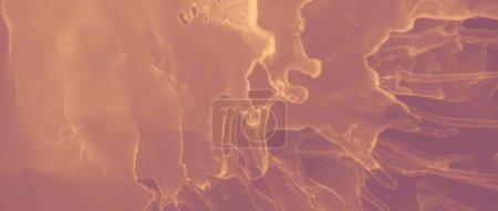 Patrón de oro de tinta. Salpicadura Volcánica Roja. Arte naranja