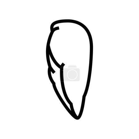 Illustration for Breast boneless skinless chicken line icon vector. breast boneless skinless chicken sign. isolated contour symbol black illustration - Royalty Free Image