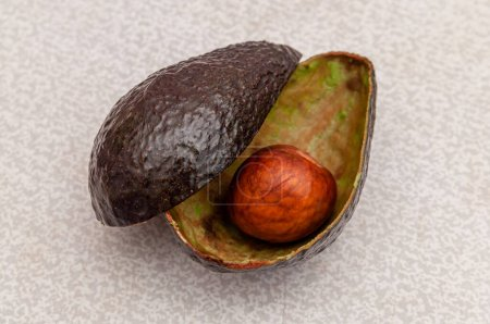 Photo for Avocado with fully eaten flesh. High quality photo - Royalty Free Image