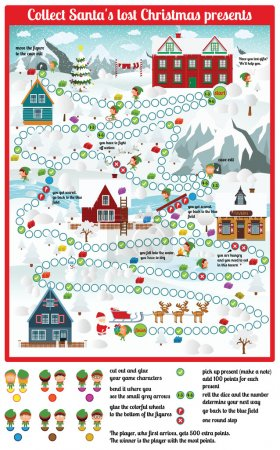 Board game (Collect Santa's lost Christmas presents)