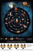 Vector illustration of board game (Halloween night)