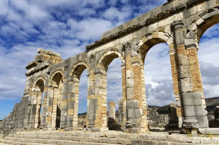 Roman Empire ruins of the roamn city Volubilis