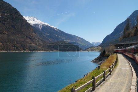 Landscape from Switzerland to Tirano by  Bernina express train