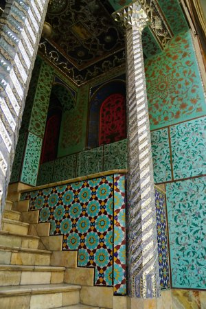 Traditional Persian design of Golestan Palace, Tehran, Iran.