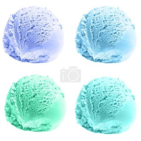 Four scoops of ice cream.
