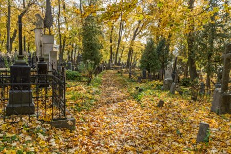 Photo for A very old cemetery photographed in autumn - Royalty Free Image