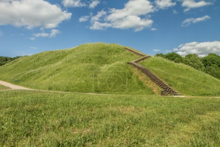 Stairs to the mound