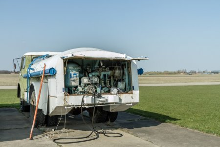 Truck with fuel for planes