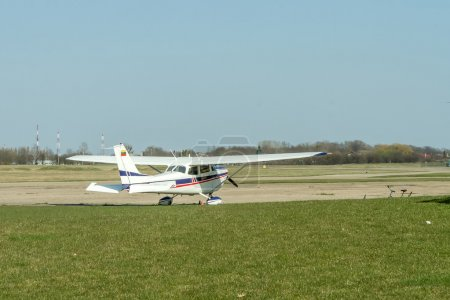 sport airplane preparing to flight
