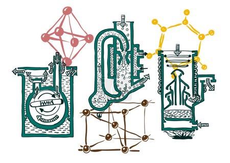 Ilustración de Pompa per vuoto serie. illustrazione vettoriale - Imagen libre de derechos