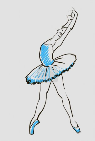 Sketch of ballerina girl
