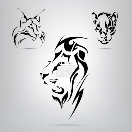 Graphic silhouettes of animals