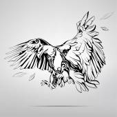 Eagle in ornament illustration