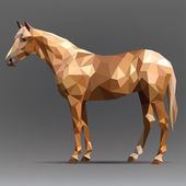 Horse in origami style