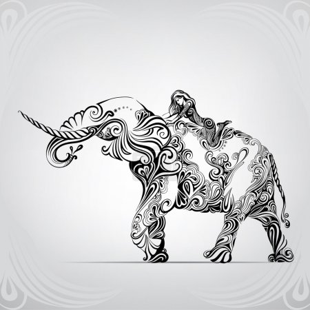 Walk astride an elephant