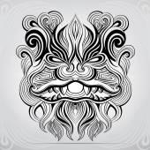 Silhouette of dragon's head