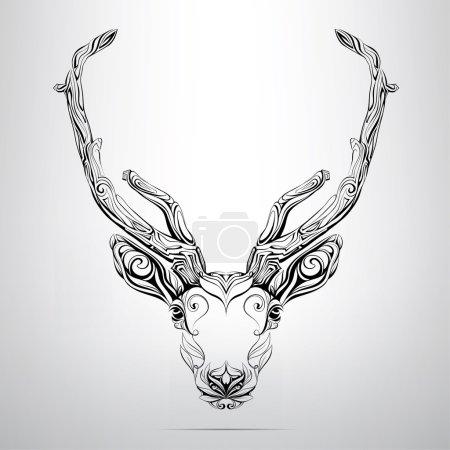 Deer head in ornament