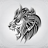 Graphic  roaring lion