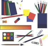 Set kantselyatskih accessories made in color