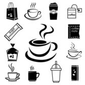 coffee icon set 04