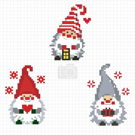Three cheerful gnome
