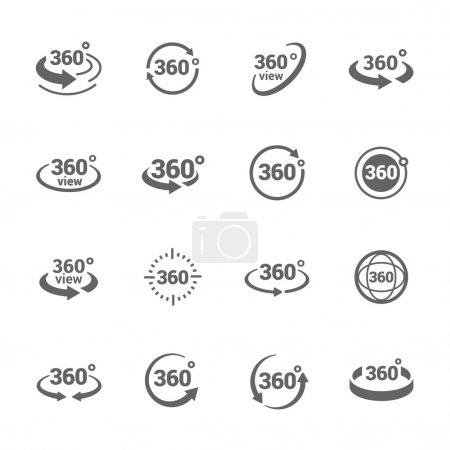 Simple Set of 360 Degree View Related Vector Icons...