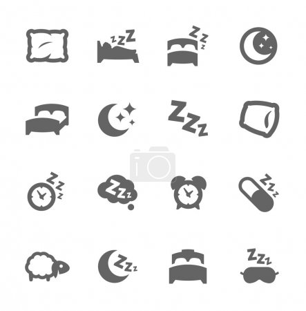 Illustration for Simple Set of Sleep Related Vector Icons for Your Design. - Royalty Free Image