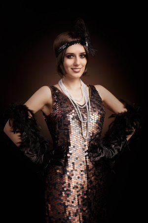 Photo for Vintage style image of a flapper girl - Royalty Free Image