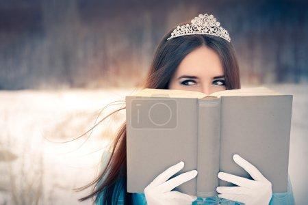 Snow Queen Reading a Book