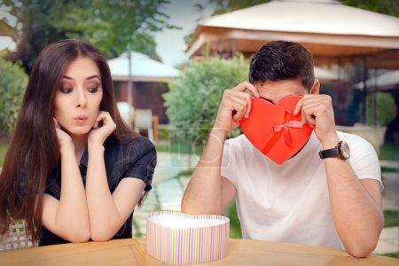 Boyfriend Embarrassed with his Valentine Gift