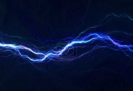Foto de Luz eléctrica azul, fondo eléctrico abstracto - Imagen libre de derechos
