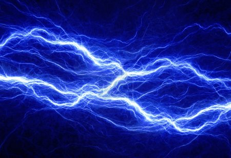 Photo pour Eclairage électrique bleu, fond électrique abstrait - image libre de droit