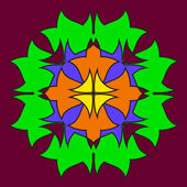 Abstract colored symmetrical shapes