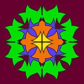 Abstrakte farbige symmetrische Formen
