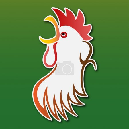 Sticker - colored stylized rooster
