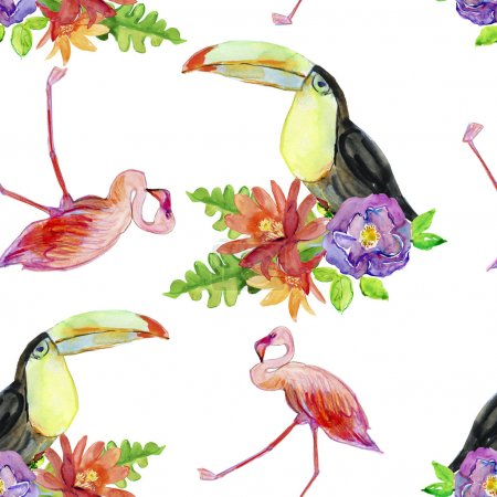 tropical floral painting pattern