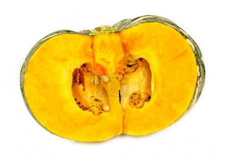 Australian pumpkin cut in half