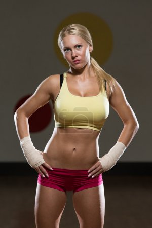 Young Woman The Fighter