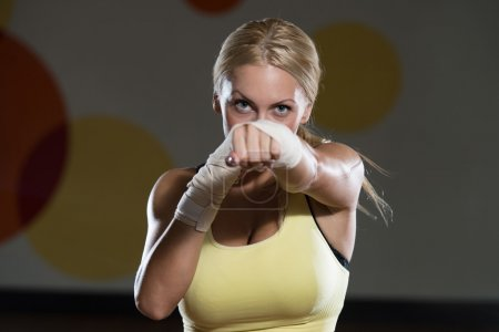 Strong Woman Mixed Martial Arts Fighter